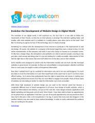 Evolution the Development of Website Design in Digital World.doc