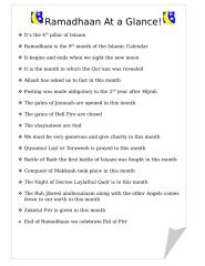 Ramadhaan At a Glance.docx