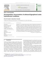 2011-Biomass and Bioenergy-Decomposition characteristics of softwood lignophenol under hydrothermal conditions.pdf