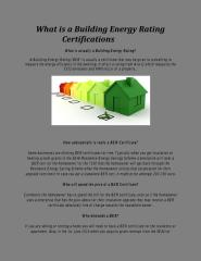 What is a Building Energy Rating Certifications.pdf