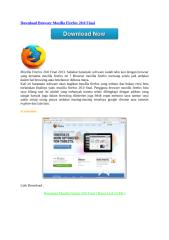 Download Browser Mozilla Firefox 20.0 Final.doc