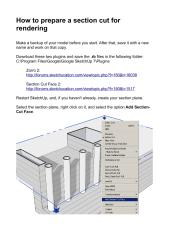 how to render a section cut in sketchup.pdf