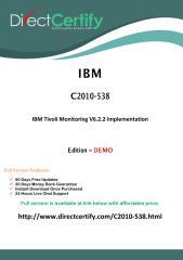 C2010-538 Free  Dump Download (PDF).pdf