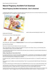 Natural Pregnancy And Birth Full Download-html.pdf