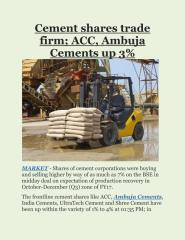 Cement shares trade firm; ACC, Ambuja Cements up 3%.pdf