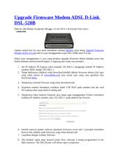 Upgrade Firmware Modem ADSL D.doc