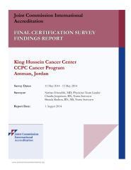 JCI CCPC Final Survey Findings Report_King Hussein Cancer Center CCPC Cancer Program, Jordan.pdf