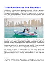 Various Powerboats and Their Uses in Dubai.pdf