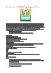 Memberikan Password Di Flashdisk Tanpa Menggunakan Software.doc