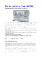 Tips dan cara format Nokia 9300.doc