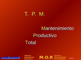 OPCIONAL PRESENTACION TPM - MEXICO.ppt