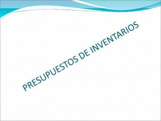 03_Presupuesto de Inventarios.ppt